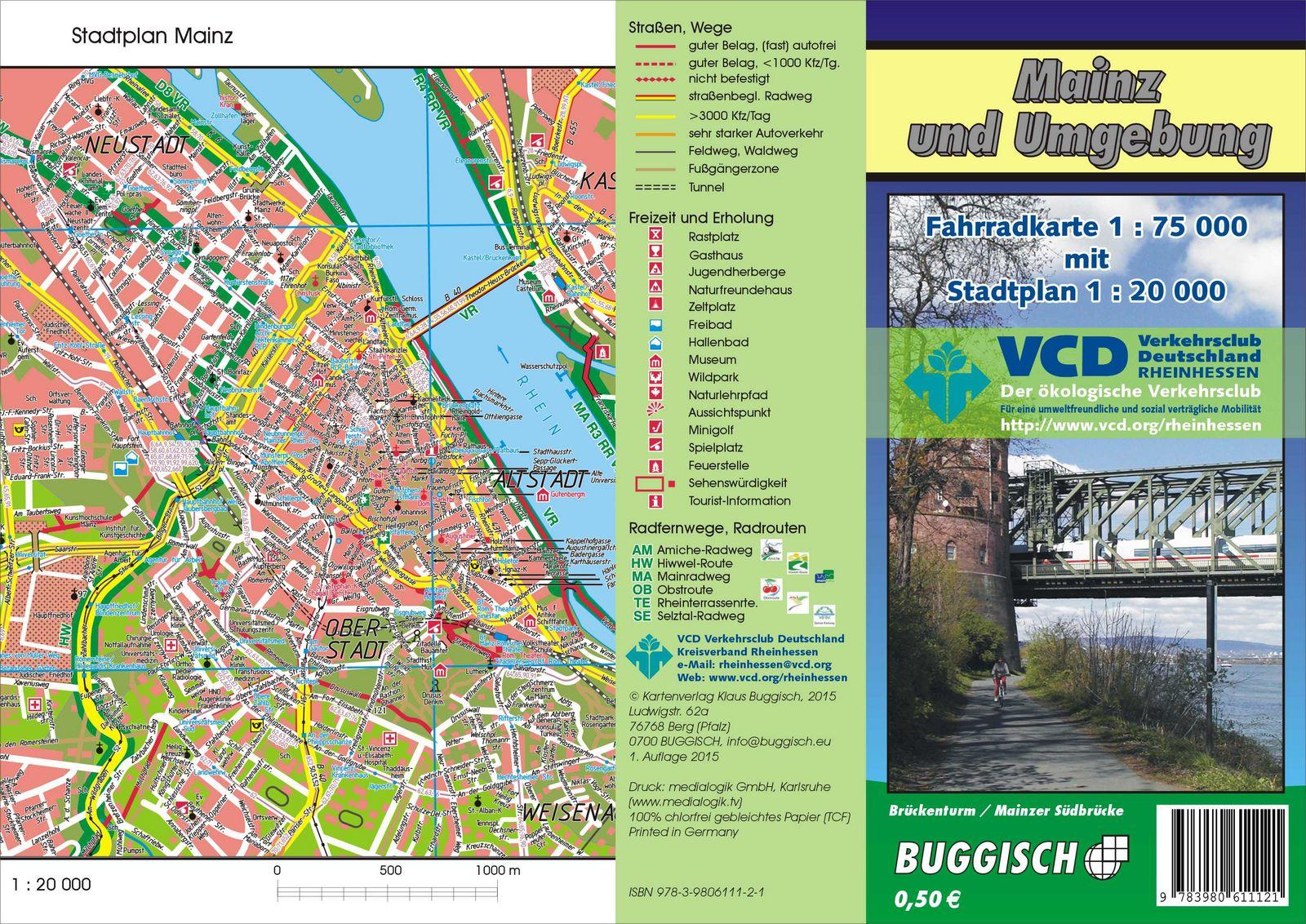 Side T303274rkei Karte.Karte Mainz Und Umgebung